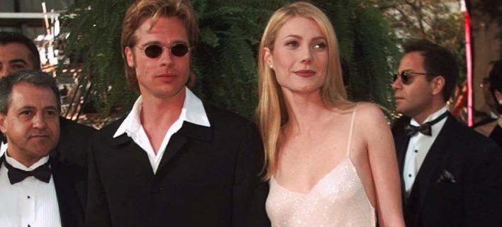 Οι ηθοποιοί Μπραντ Πιτ και Γκουίνεθ Πάλτροου. Φωτογραφία: AP