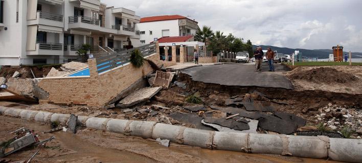 Καταστροφές από πλημμύρες στην Βρασνά Θεσσαλονίκης/ Φωτογραφία intime