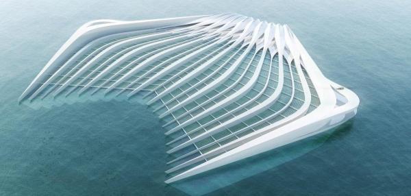 Η πλατφόρμα έχει μήκος 400 μέτρων και προβάλει 15 μέτρα  έξω από το νερό