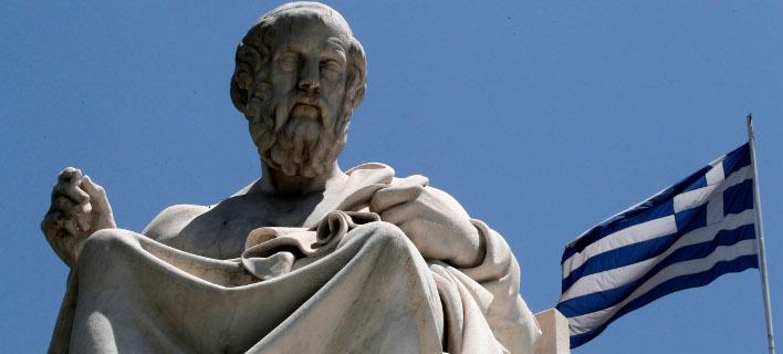 Άγαλμα του αρχαίου Έλληνα φιλοσόφου, Πλάτωνα. Φωτογραφία: AP