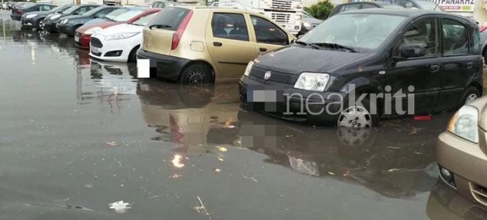 Πλημμύρες στην Κρήτη- Φωτογραφία: neakriti.gr