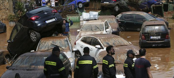 Εικόνα αρχείου από πλημμύρα στο Μαρούσι / Φωτογραφία: George Vitsaras/SOOC