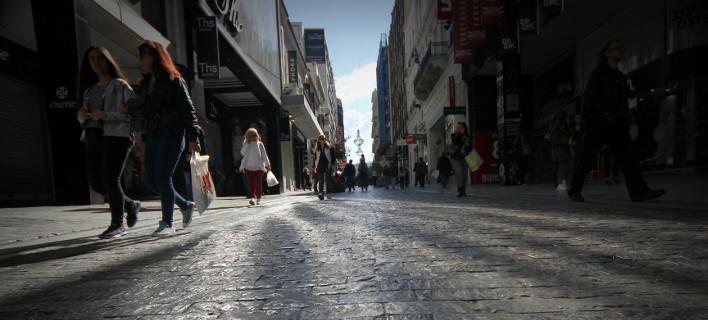 Στιγμιότυπο από τους δρόμους της Αθήνας-Φωτογραφία:Eurokinissi