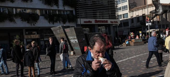 Στιγμιότυπο στο κέντρο της Αθήνας/Φωτογραφία: Eurokinissi
