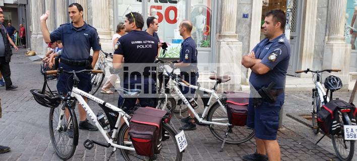 Βγήκαν στην Αθήνα οι αστυνομικοί με ποδήλατα [εικόνες]
