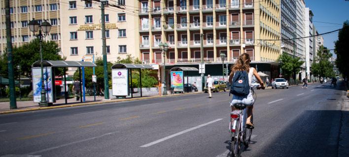 Το νέο δίκτυο ποδηλατοδρόμων της Αθήνας/Φωτογραφία: Eurokinissi