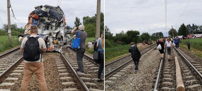 Πολωνία: Σύγκρουση τρένου με φορτηγό (Φωτογραφία: chojna24)