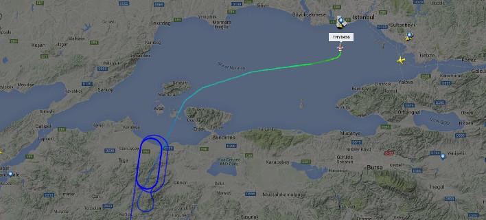 Ολη η πορεία του αεροσκάφους του Ερντογάν – Από το Νταλαμάν στην Κωνσταντινούπολη [εικόνες]