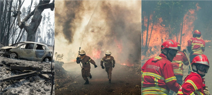 Πυρκαγιά κόλαση στην Πορτογαλία -Τουλάχιστον 62 νεκροί, πολλοί παγιδεύτηκαν σε ΙΧ [εικόνες & βίντεο]