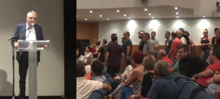 «Κάτω προδότη, ντροπή σου» -Αποδοκίμασαν τον Πουλάκη στο Κιλκίς για το Σκοπιανό [βίντεο]