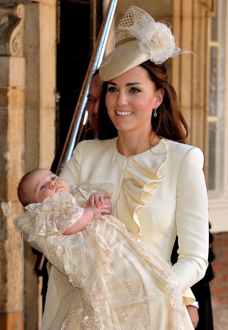 Στιγμιότυπο από τη βάφτιση του πρίγκιπα Τζορτζ. Φωτογραφία: AP