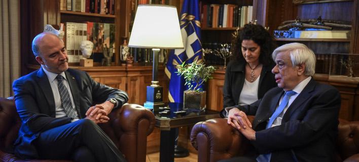 Παυλόπουλος-Μοσκοβισί/Φωτογραφία: Eurokinissi