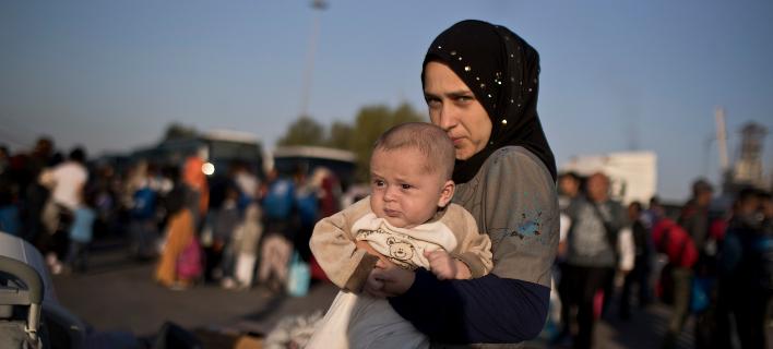 πρόσφυγες στην Ελλάδα/Φωτογραφία: AP