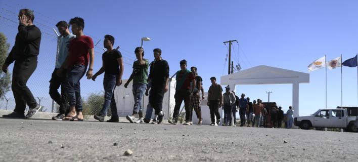Επεισόδια σε κέντρο υποδοχής προσφύγων στην Κύπρο (Φωτογραφία αρχείου: AP/ Petros Karadjias)