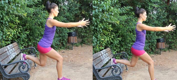Οι πιο αποτελεσματικές και εύκολες ασκήσεις ποδιών που μπορείς να κάνεις σε ένα παγκάκι