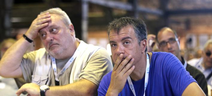 Σταύρος Θεοδωράκης (δεξιά) λαύρος κατά Γρηγόρη Ψαριανού (αριστερά) -Φωτογραφία αρχείου: Intimenews/ΛΙΑΚΟΣ ΓΙΑΝΝΗΣ