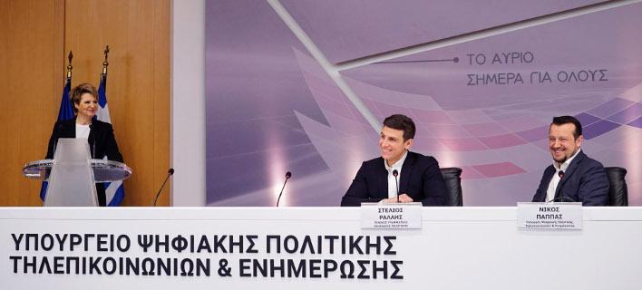 Από την παρουσίαση του έργου για την ψηφιακή ανταλλαγή εγγράφων στο Δημόσιο/Φωτογραφία αρχείου: Eurokinissi