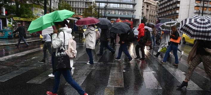 Ψιλόβροχο στην Αθήνα /Φωτογραφία Αρχείου: Intime News-Bαράκλας Μιχάλης