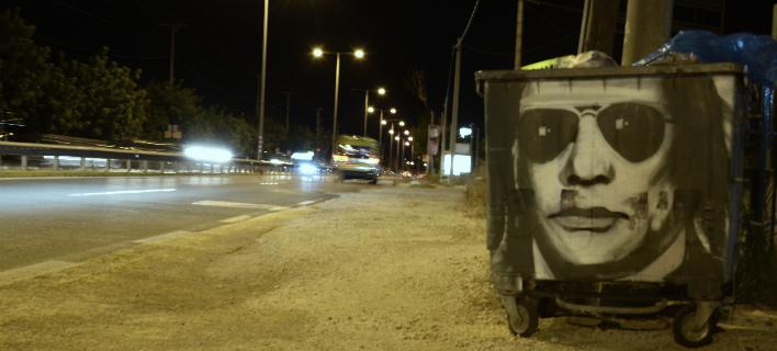 Εκαναν τον Ψινάκη γκράφιτι σε κάδο (Φωτογραφία: EUROKINISSI/ ΛΥΔΙΑ ΣΙΩΡΗ)
