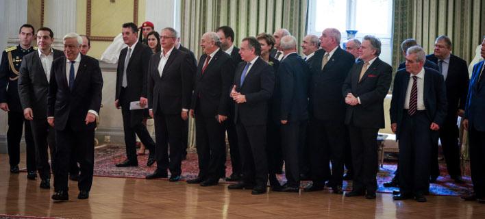 Πλήθος προσωπικοτήτων στη δεξίωση που παρέθεσε ο πρόεδρος της Δημοκρατίας / Φωτογραφία: EUROKINISSI