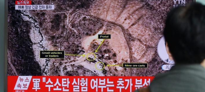 To κέντρο πυρηνικών δοκιμών της Β.Κορέας, Πούνγκιε-Ρι (Φωτογραφία: ΑΡ)
