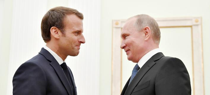 Πούτιν-Μακρόν/Φωτογραφία: AP