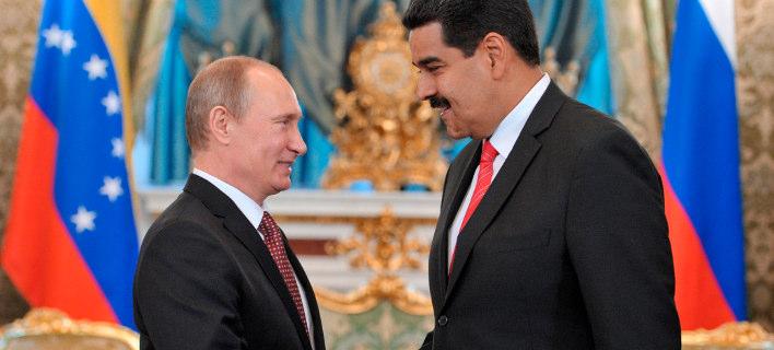 Oι πρόεδροι Ρωσίας και Βενεζουέλας, Βλάντιμιρ Πούτιν και Νικολάς Μαδούρο (Φωτογραφία: ΑΡ/αρχείο)