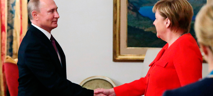 Πούτιν, Μέρκελ στη G20 /Φωτογραφία: ΑΡ