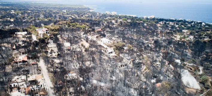 Η πυρκαγιά στο Μάτι προκάλεσε το θάνατο 100 ανθρώπων / Φωτογραφία: Eurokinissi