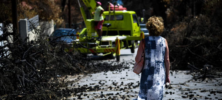 To Mάτι μετά τις φονικές πυρκαγιές/Φωτογραφία: ΑΡ