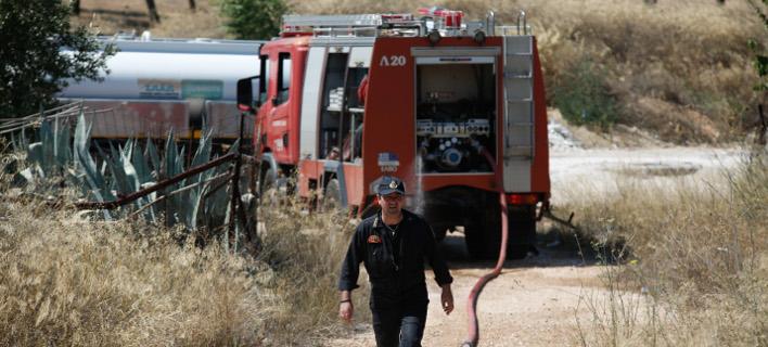 Τα ξημερώματα του Σαββάτου ξέσπασε πυρκαγιά στο Στρατόπεδο Καποτά (Φωτογραφία αρχείου: EUROKINISSI/ΣΤΕΛΙΟΣ ΜΙΣΙΝΑΣ)