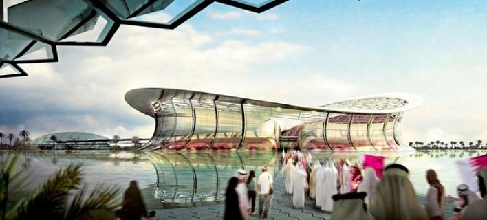 Ετσι θα είναι το στάδιο του Κατάρ / Φωτογραφία: ΑΠΕ