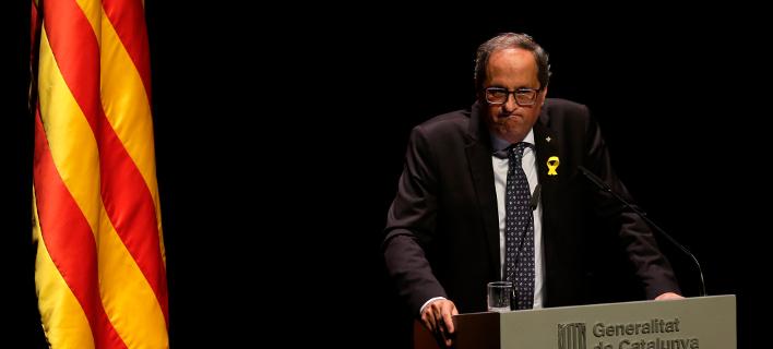 O πρόεδρος της Καταλονίας, Κιμ Τόρα (Φωτογραφία: ΑΡ)