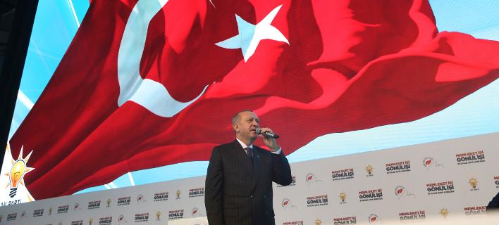 O Tούρκος πρόεδρος, Ταγίπ Ερντογάν (Φωτογραφία: Presidential Press Service via AP, Pool)