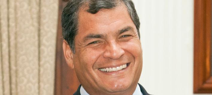 O πρώην πρόεδρος του Ισημερινού, Ραφαέλ Κορέα/Φωτογραφία: Wikipedia