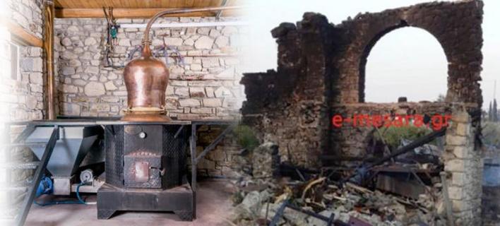 Κρήτη: Το πριν και το μετά της μεγάλης έκρηξης στο ρακοκάζανο -Ολική καταστροφή [εικόνες & βίντεο]