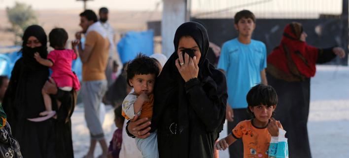 Σύροι πρόσφυγες -Φωτογραφία αρχείου: AP Photo/Hussein Malla,