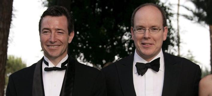Ο Τζον Ρίντινγκ (αριστερά) με τον πρίγκιπα Αλβέρτο (Φωτογραφία: ΑΠΕ/  EPA/BRUNO BEBERT)