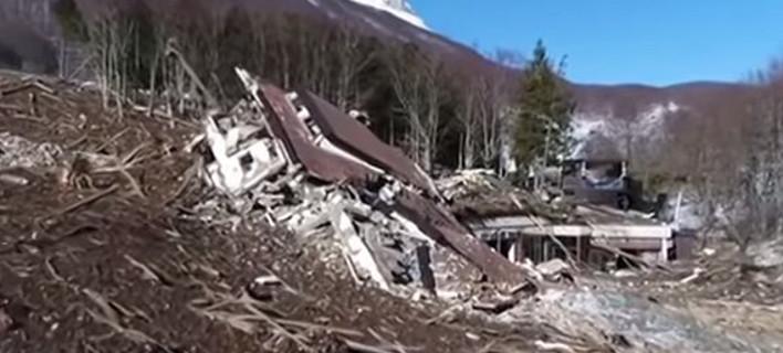 Σοκ: Ο,τι απέμεινε από το ξενοδοχείο στην Ιταλία που θάφτηκε από χιονοστιβάδα [βίντεο]