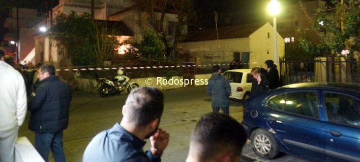 Η αστυνομία απέκλεισε το σημείο/ Φωτογραφία: rodospress