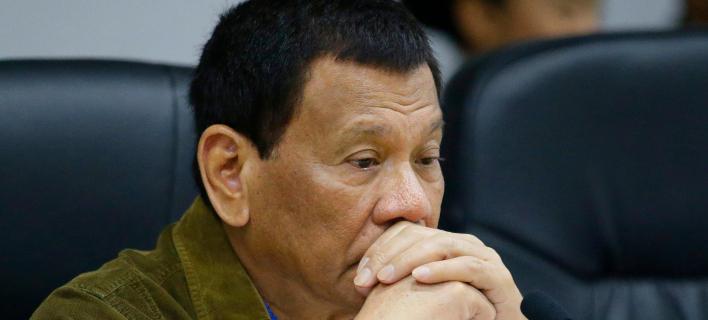 Ο αμφιλεγόμενος πρόεδρος των Φιλιππίνων, Ροντρίγκο Ντουτέρτε (Φωτογραφία: AP/Aaron Favila)
