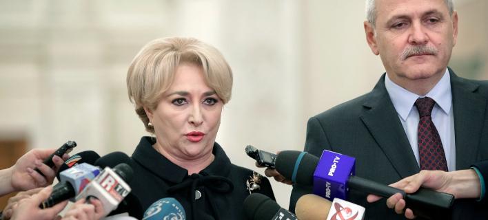 πρόεδρος Κλάους Γιοχάνις διόρισε την ευρωβουλευτή Βιόριτσα Ντάντσιλα πρωθυπουργό της χώρας/AP