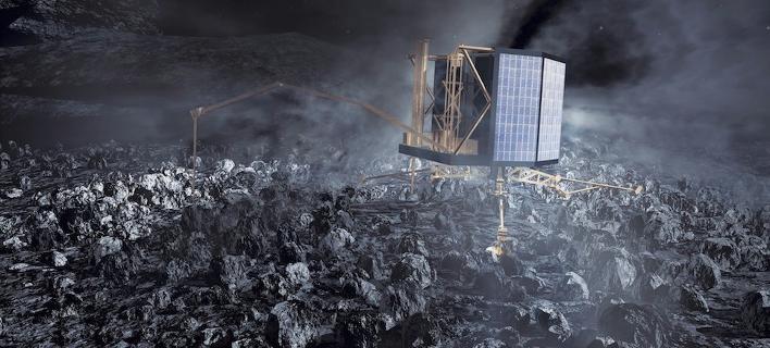 Οι πρώτες εικόνες που πήρε το ρομπότ Philae από τον κομήτη Τσούρι [εικόνες]