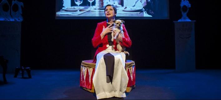 Η Ιζαμπέλλα Ροσσελλίνι θα παρουσιάσει την παράσταση «Link Link» με τον Παν, φωτογραφία: megaron.gr