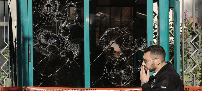 Επίθεση του Ρουβίκωνα στην πρεσβεία της Σαουδικής Αραβίας / Φωτογραφία: Ιntime
