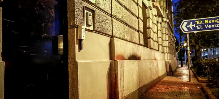 Επίθεση Ρουβίκωνα στη γαλλική πρεσβεία/Φωτογραφία: Eurokinissi