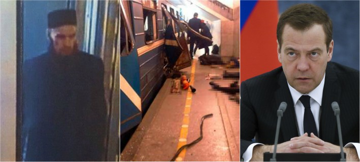 Μεντβέντεφ: Ηταν τρομοκρατικό το χτύπημα στην Αγία Πετρούπολη
