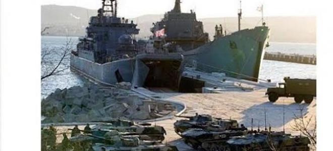 Ρώσοι κατεβάζουν τανκς στην Ουκρανία από πολεμικά πλοία -Η εικόνα που προκάλεσε παγκόσμιο πανικό