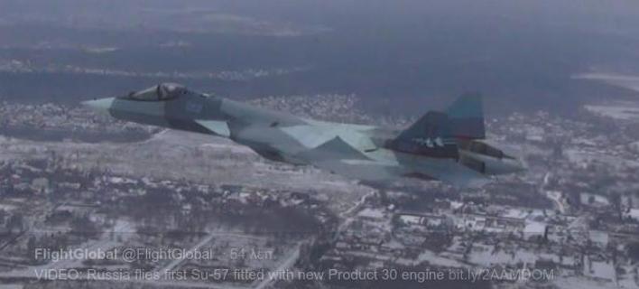 Ρωσία: Ολοκληρώθηκε με επιτυχία η δοκιμαστική πτήση του μαχητικού Su-57