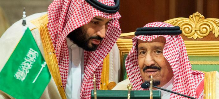 ο βασιλιάς και ο πρίγκιπας διάδοχος της Σαουδικής Αραβίας/Φωτογραφία: AP